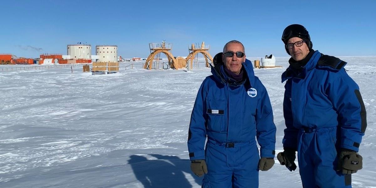 deux chercheurs en antartique